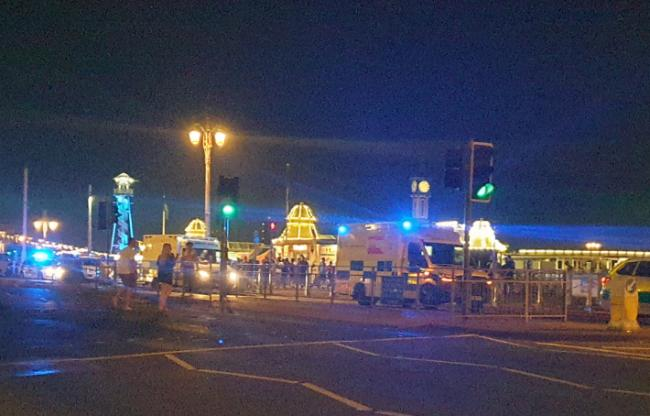 A female paramedic was struck in the face in an attack by Brighton Palace Pier Credit @SussexIncidents