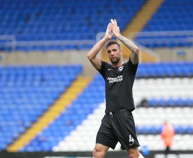 Shane Duffy applauds the travelling support   - Pic by Richard Parkes.