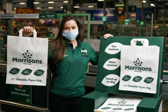 The recyclable paper alternative to the 'bag for life' (Morrisons/PA)