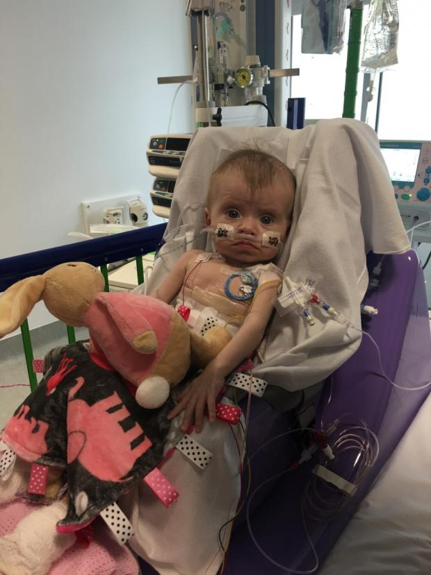 The Argus: Imogen as a baby at Great Ormond Street Hospital in London