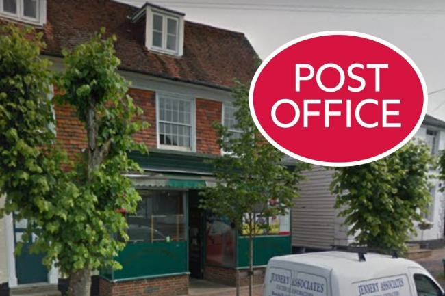Police investigated thefts at the Post Office in Burwash, Sussex