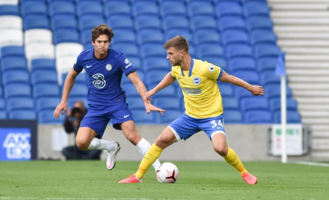 Joel Veltman in action against Chelsea in pre-season