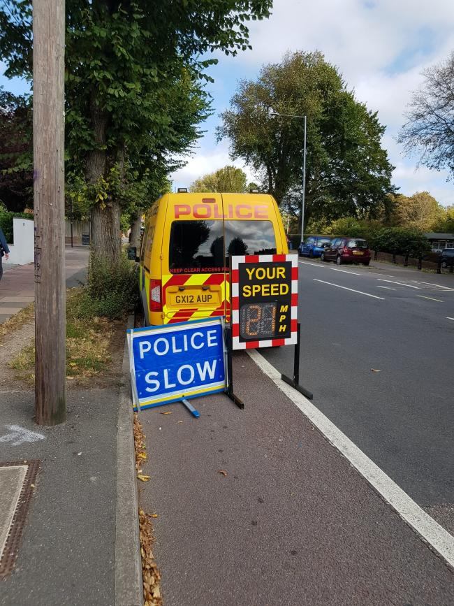 Sussex Police are monitoring cars' speed in Ditchling Road, Brighton