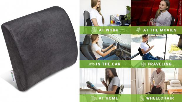 The Argus: You can also use the pillow on your desk chair or couch. Credit: Supportitback