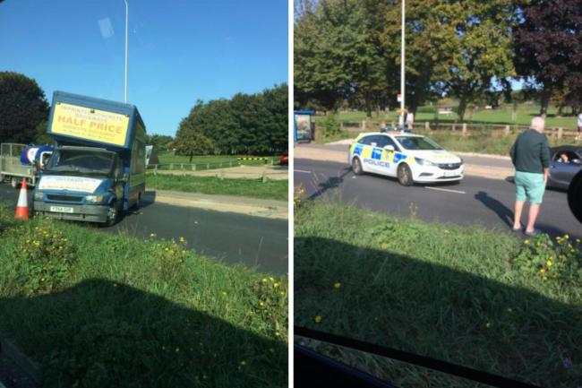 Severe delays on A27 after crash