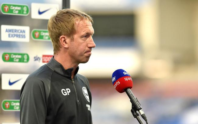 Graham Potter speaks to Sky Sports ahead of the tie