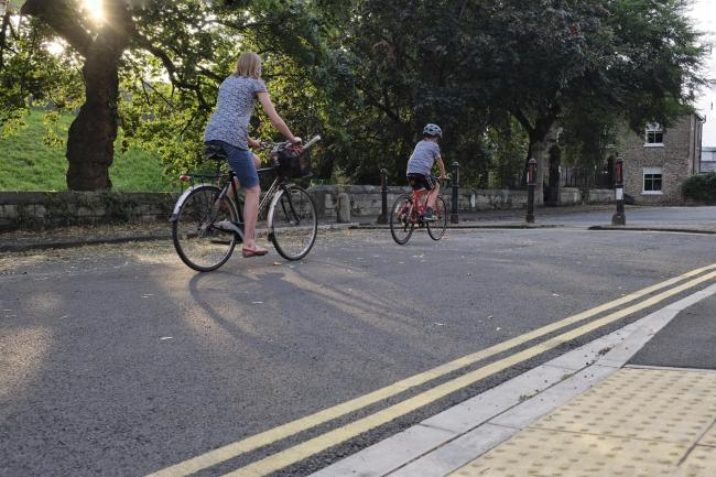 You rarely see children cycling alone