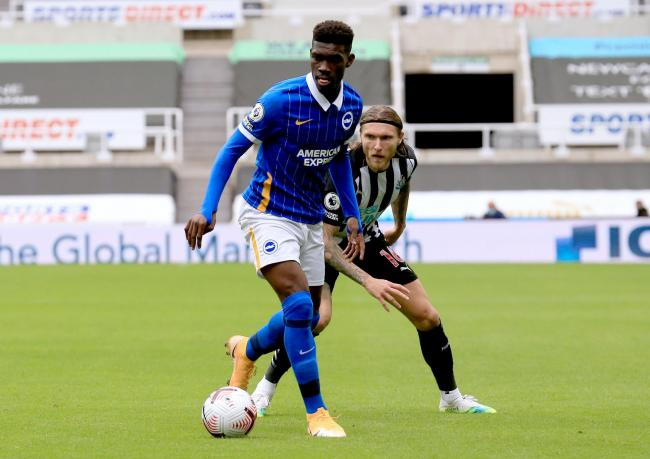 Yves Bissouma to miss Manchester United game after red card | The Argus