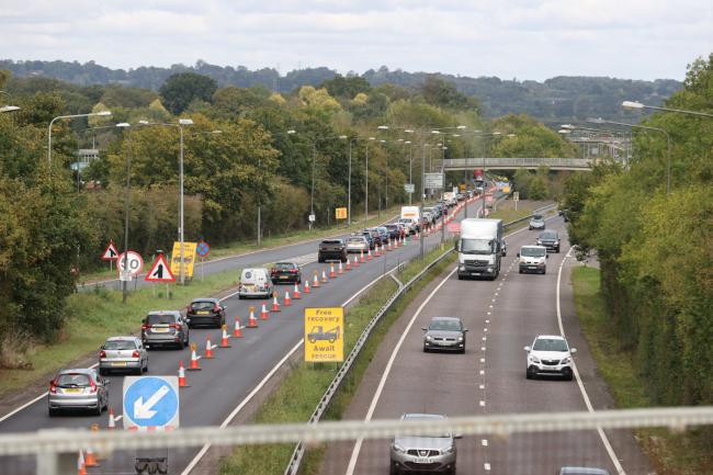 A23 roadworks are causing delays