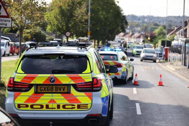 Carden Avenue, in Patcham, Brighton, is closed after a crash involving a pedestrian