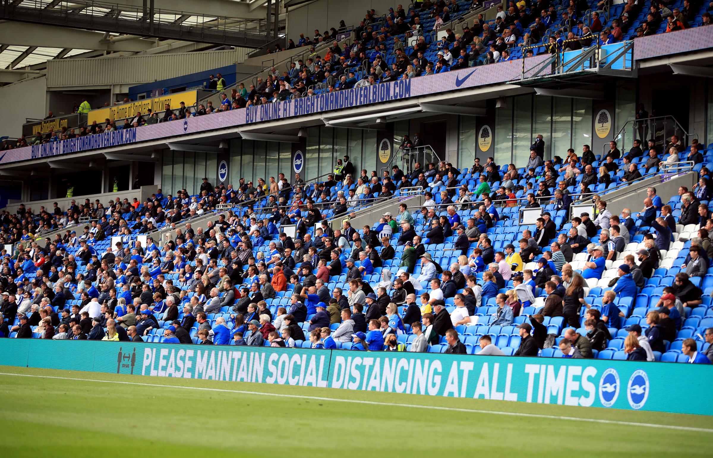 Albion fans will have to wait for a return to football stadiums