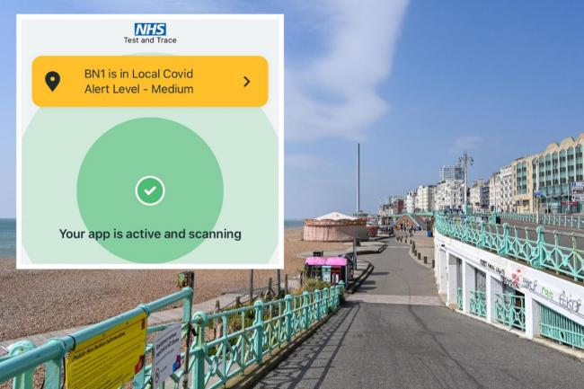 People in Brighton and Hove have been sent an update on the Covid alert level in the city as the government's new three-tier  alert system comes into effect
