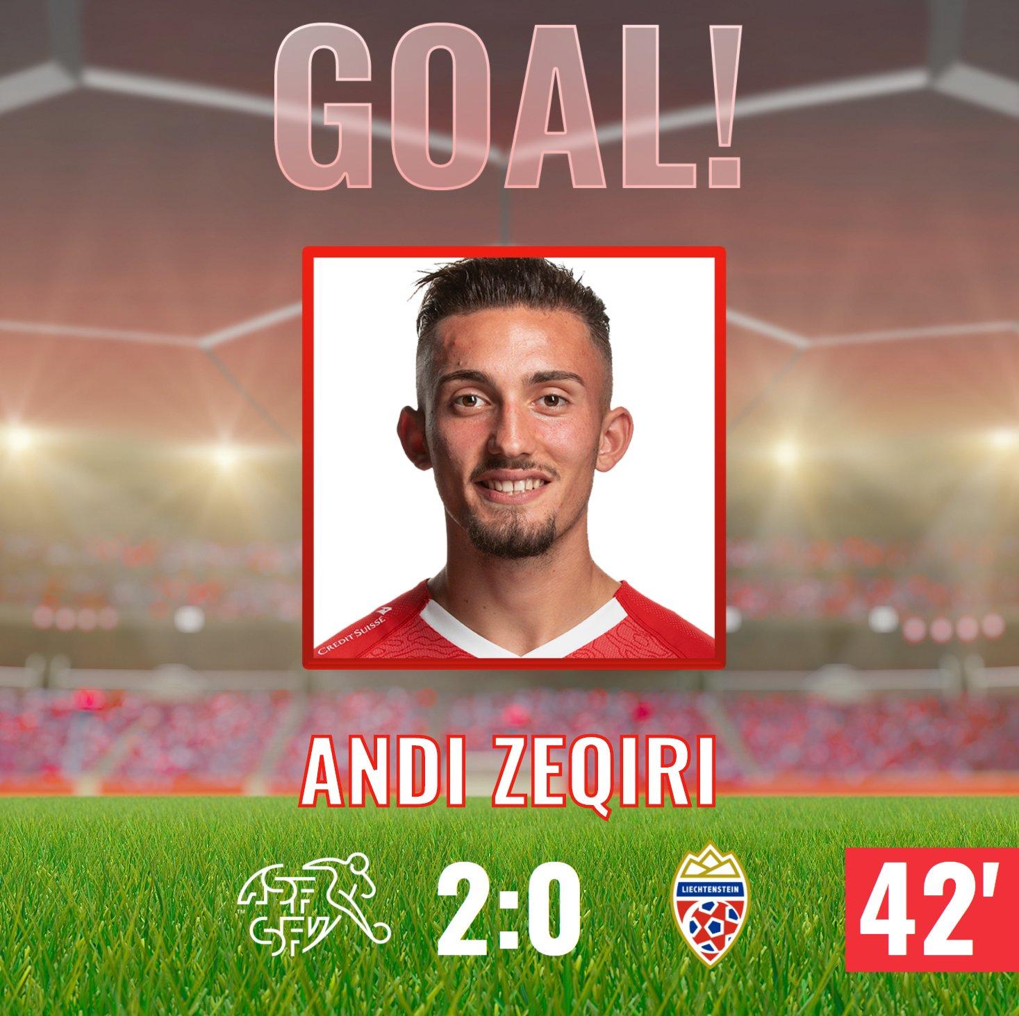 Andi Zeqiri hot on heels of England ace in Euro goals chart