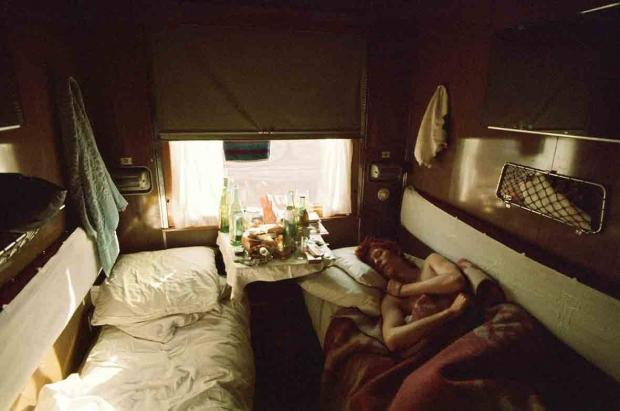 The Argus: David Bowie asleep on the Trans Siberian Express, 1973. Photo: Geoff MacCormack