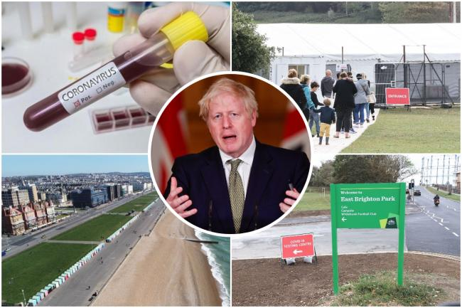How far is Brighton from joinging Elmbridge, Essex and London in tier two of the government's new coronavirus alert system