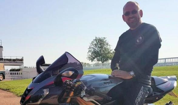 Richard Adde was riding his black Aprilia at the time of the fatal crash