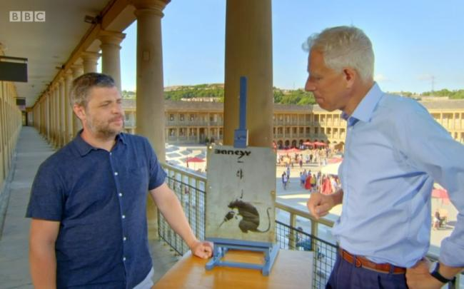 A man had a Banksy he had taken from Brighton valued on Antiques Roadshow Credit Antiques Roashow/BBC