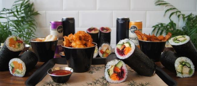 Vegan Sushi burritos from Happy Maki in Brighton, which has been shortlisted in the Deliveroo Restaurant Awards