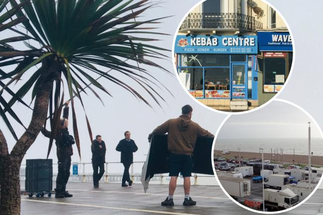 New BBC drama Roadkill - featuring Hugh Laurie - was filmed in Hastings, Sussex. Pictures @visit1066