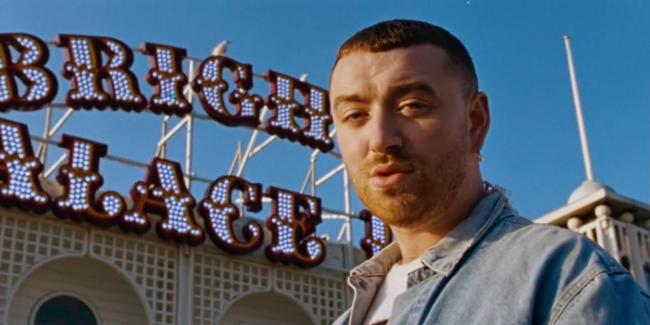 Sam Smith filmed his new music video at Brighton Palace Pier (Credit: Sam Smith/YouTube).
