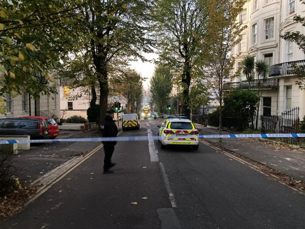 The Argus: There were about 20 officers stationed at the crime scene this morning
