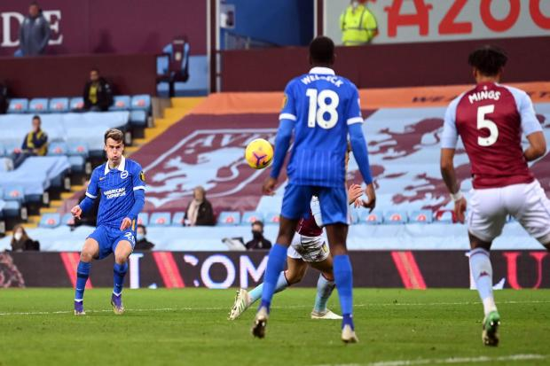Solly March fires Albion back in front against Aston Villa