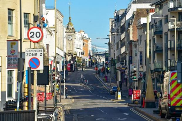 The Argus: The streets of Brighton were empty as lockdown began