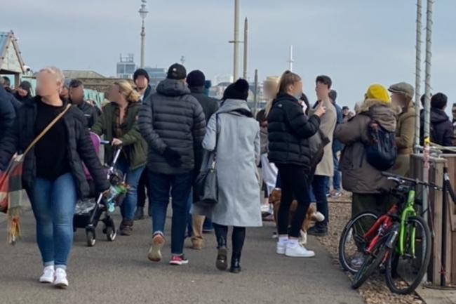 'We did not foresee that volume of people' - Social distancing concerns at Hove seafront venue