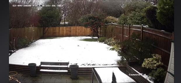 The Argus: Snow in Battle, East Sussex, this morning captured by Paul Dodd/@Paulpremier9233