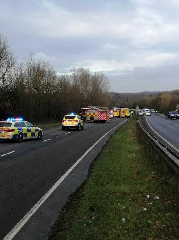 The Argus: Emergency services at the A24 crash