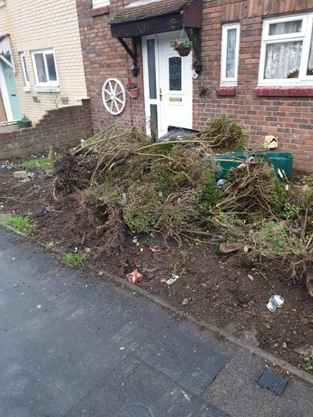 The Argus: Residents helped clean up the debris from the crash