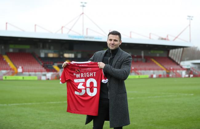Mark Wright has revealed what made him nervous about signing for Crawley Town