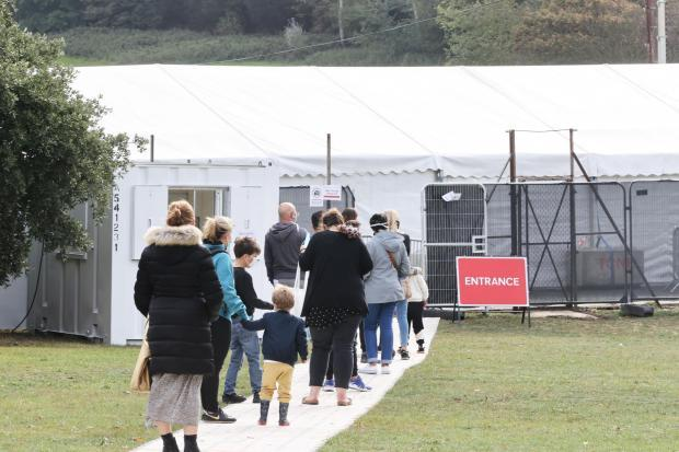 The Argus: The testing site at East Brighton Park