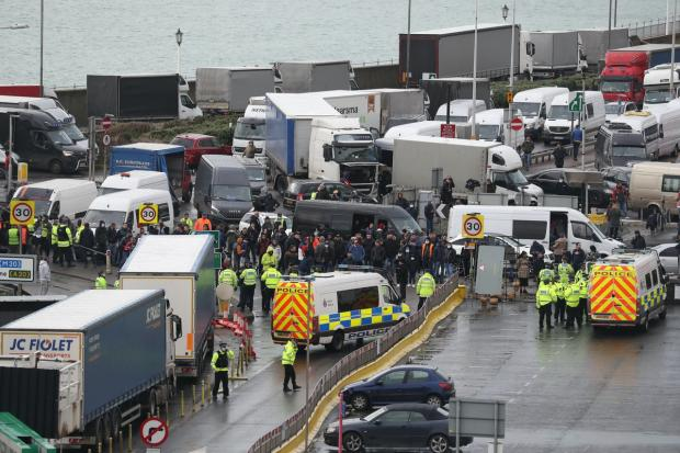 The Argus: Chaos in Dover a France banned travel from the UK over fears of the new strain