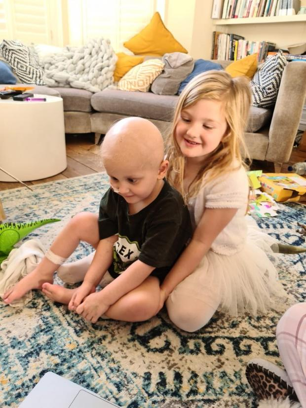 The Argus: Louis at home with his sister Isabelle