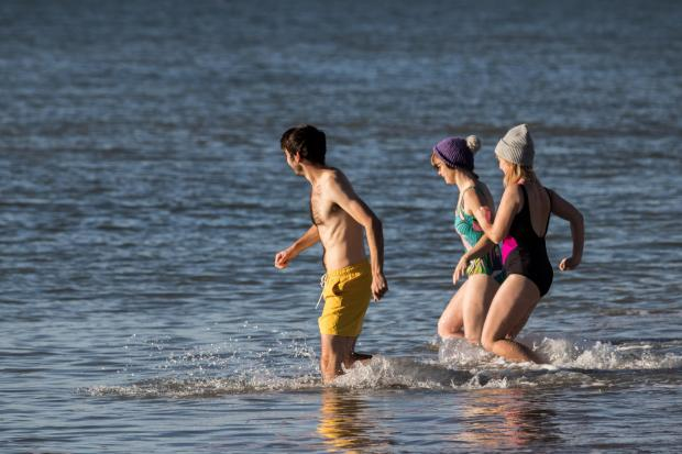 The Argus: People ran into the cool water