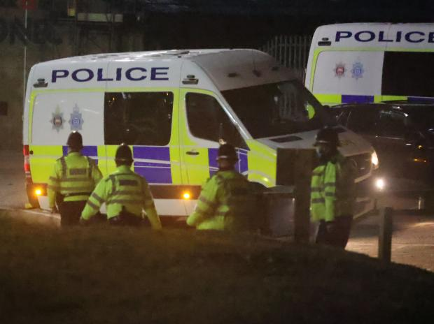 The Argus: Police on Hove seafront enforcing Covid rules on New Year's Eve