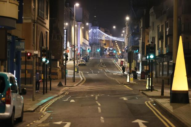 The Argus: Brighton city centre was relatively quiet on New Year's Eve, but the city's beach was busy
