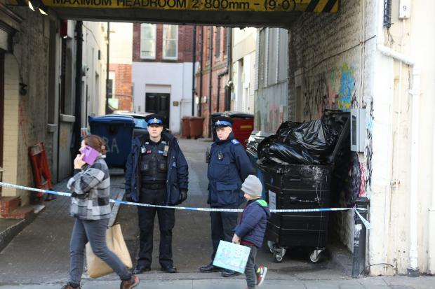 The Argus: The scene in North Street, Brighton, where the body of Billy Henham was found on January 2, 2020