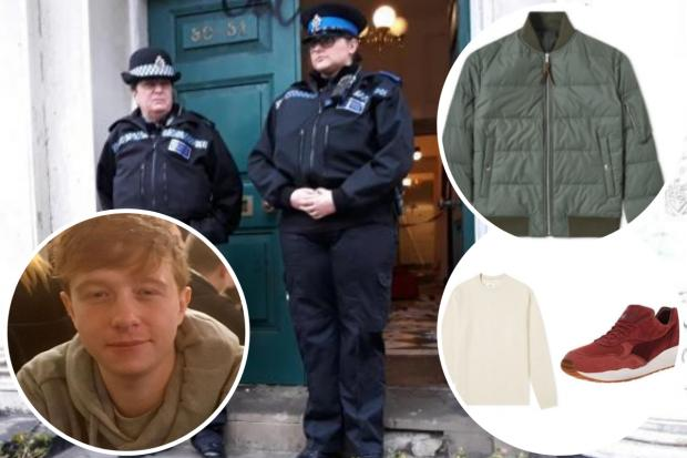 The Argus: The clothes that Billy Henham, inset, was last seen wearing before he was found dead in North Street, Brighton