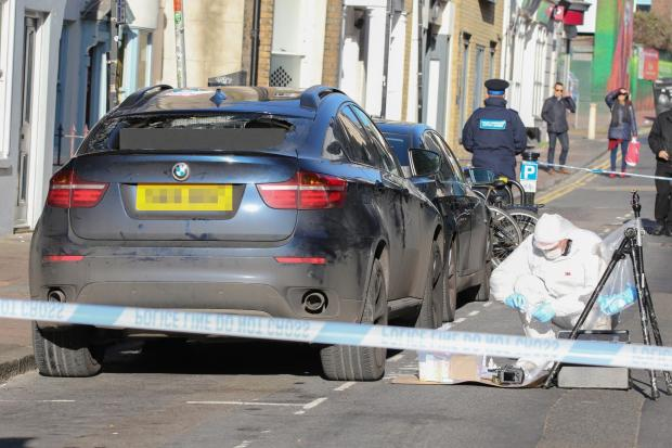 The Argus: The BMW driven by Iftekhar Khondaker was later found abandoned in Middle Street, Brighton