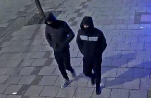 These suspects sprayed shopkeepers in the face during robberies in Worthing