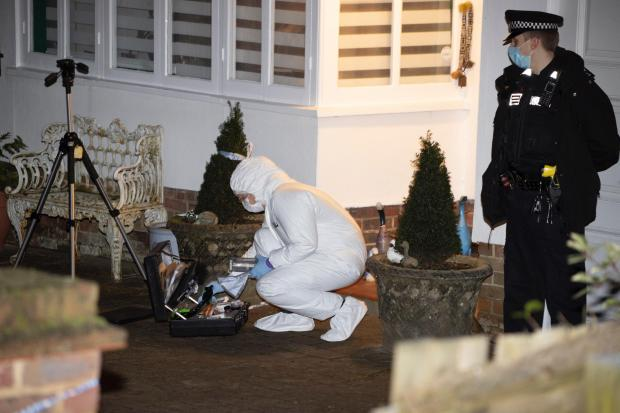 The Argus: The scene in Withdean as Sussex Police launched a murder investigation