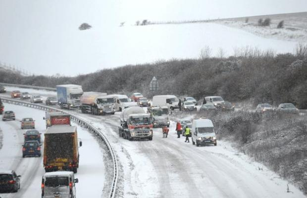 The Argus: Roads in Sussex during the snow storm of 2010
