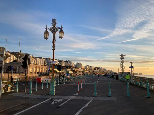 The Argus: Several new cycle lanes have already been introduced in Brighton and Hove during the coronavirus crisis to provide active travel options