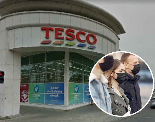 Tesco in Church Road, Hove was empty today following yesterday's announcement on facemasks.