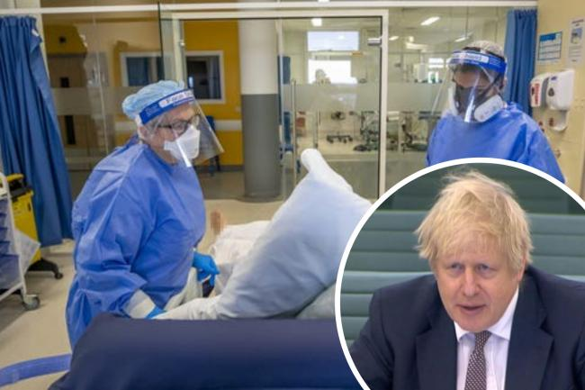 Intensive care units face being 'overwhelmed', PM warns. (PA/Canva)