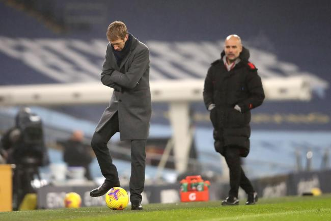 Albion head coach Graham Potter was proud of his players after their 1-0 defeat to Manchester City