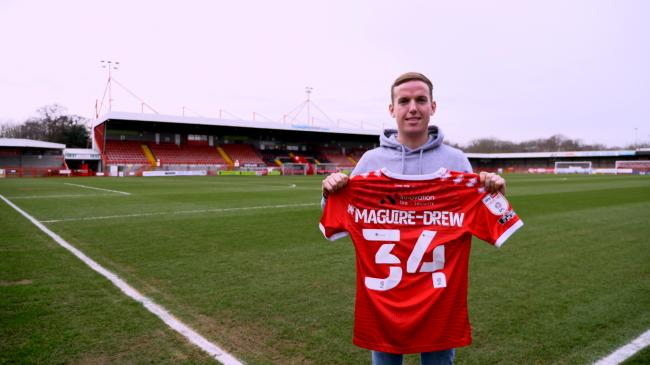 Crawley last night signed winger Jordan Maguire-Drew on loan from fellow League Two Leyton Orient until the end of the season. Picture: Crawley Town FC