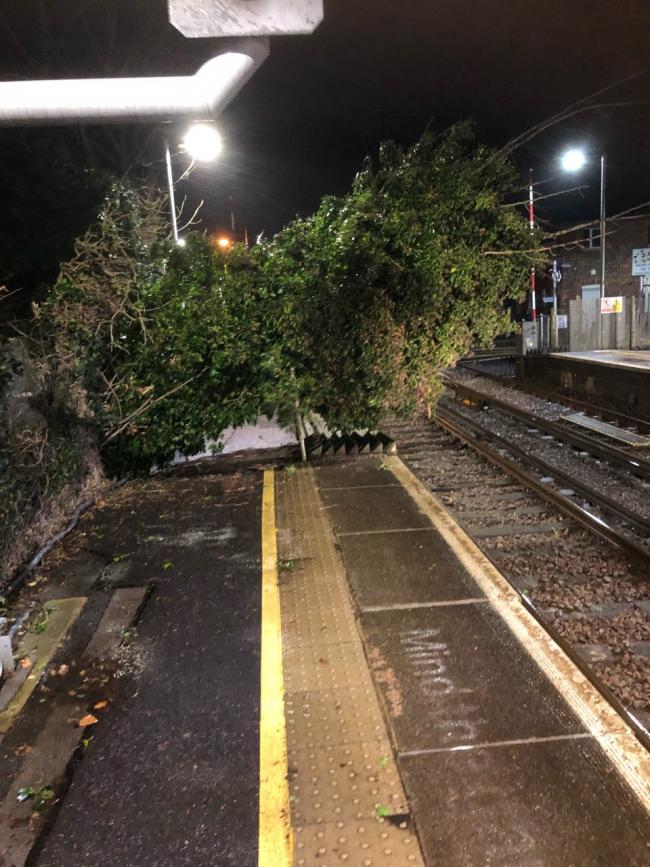 Trains brought to a halt after Storm Christoph blows tree onto railway line